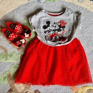Adorable Minnie & Mickey Dress size 2